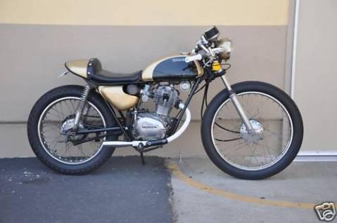Honda SL125 1971 Cafe Racer 0011