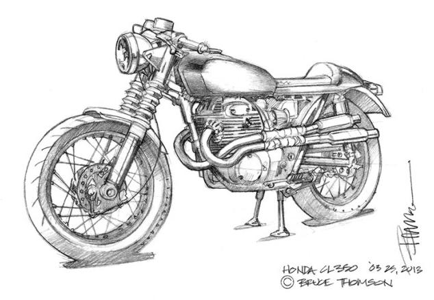 1973 honda cl350 cafe racer